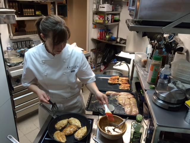 Laura Duret en cuisine